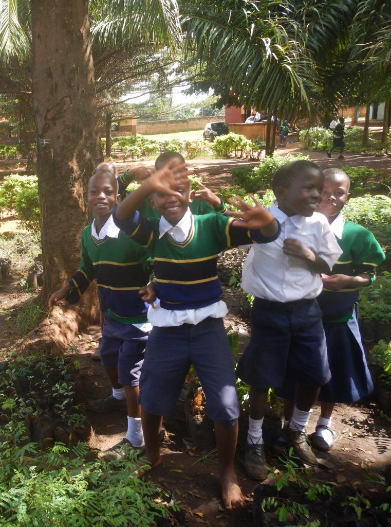 School children at their tree nursery in Tanzania