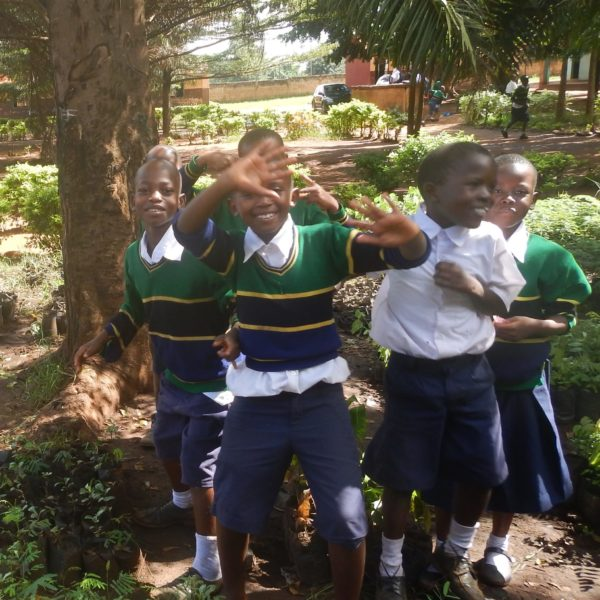 School children at their tree nursery in Tanzania